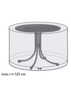 Beschermhoes voor tuintafels van ca. 125 x 75 cm transparante afdekking.