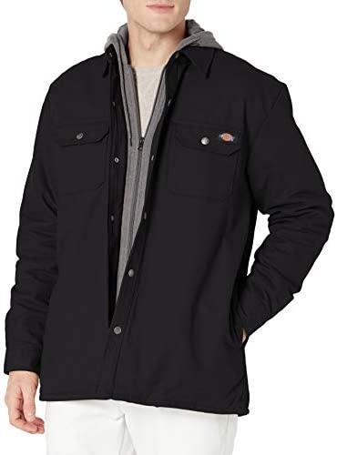 Dickies Men s Fleece Hooded Duck Shirt Jacket with Hydroshield Black 2XL product image