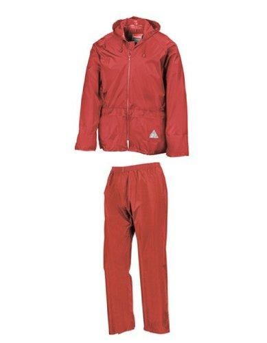 Regenanzug ( Jacke und Hose), absolut wasserdicht ,red, XL XL,Red