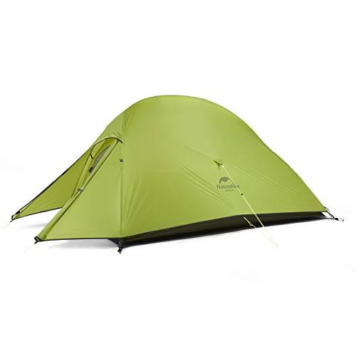Naturehike Nuovo Cloud-up 2 Persona Tenda Aggiornata Doppio Strato Tenda 2018 Tende da Escursioni (20D Verde Chiaro)