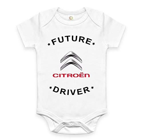 Rare New Future Citroën Driver Funny Baby Clothes Cute Unisex Bodysuit Onesie Short Sleeve Romper One Piece Prime Outfits with Sayings Body Bébé (0-3 Mois)