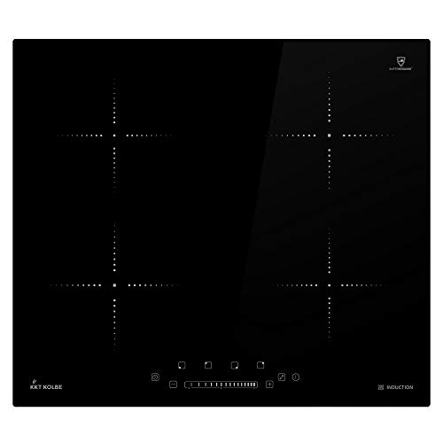 Piano cottura a induzione 59cm (autosufficiente, 6kW, 15 gradini, 4 zone, senza cornice, touch, display a LED) KF5900IND - KKT KOLBE