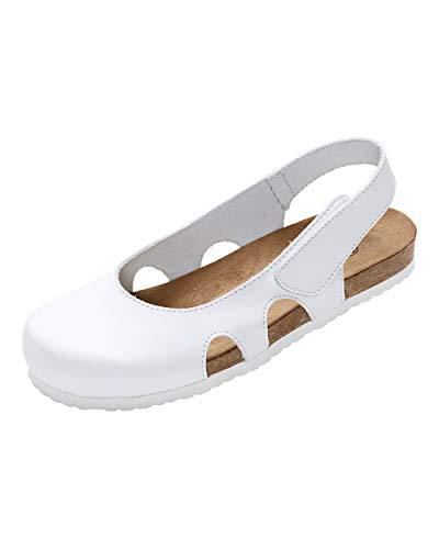 CLINIC DRESS - Clog für Damen Weiß Korkfußbett weiß 40