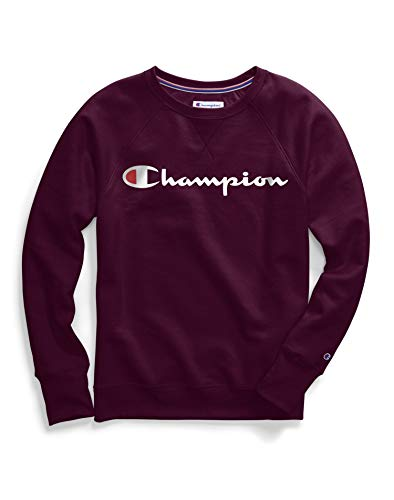 Champion Women's Plus-Size Powerblend Boyfriend Crew Sweater, Venetian Purple, 3X Large