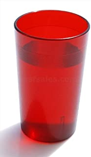 New Star Foodservice 46663 Plastic Restaurant Cup Pebbled Tumblers, 8-Ounce, Red, Set of 12