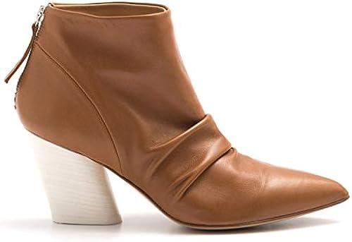 HALMANERA - Caramel Soft Leather Rosa 12 Ankle Stiefel - Rosa 12BARON Caramel