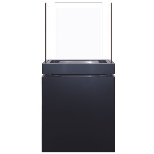 Radius Design Semi Flame 1,7 L schwarz gebürsteter Edelstahl Ethanolkamin 553 A