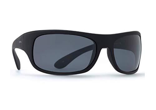 INVU Unisex Polarisierte Sonnenbrille Flexibrille Helmbrille Sportbrille A2470 Schwarz (A2470B), Linse Grau
