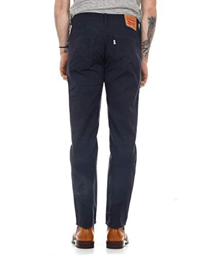Levi's Mens Linen And Stretch Cotton 511 Design Trousers Blue Size 32 Length 34 (Us)