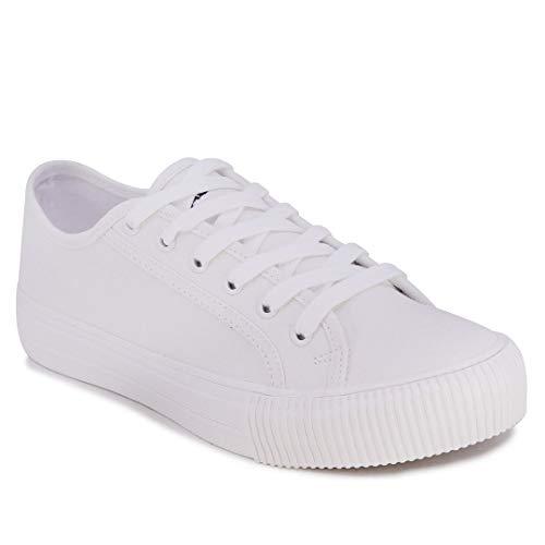 Nautica Women Lace-Up Fashion Sneaker Casual Shoes-Belladawn-White-10