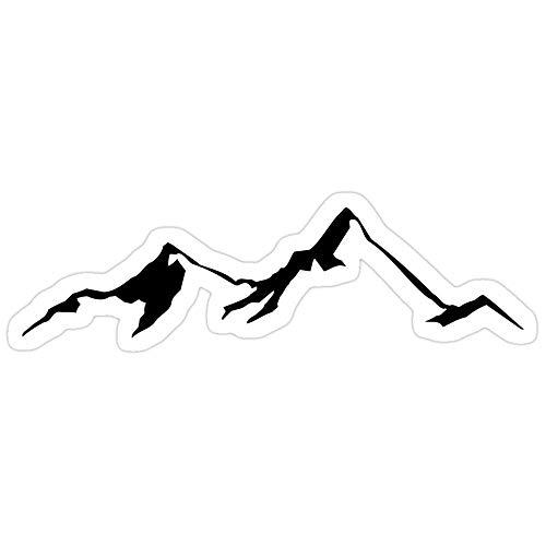 Vinyl Sticker for Cars, Trucks, Water Bottle, Fridge, Laptops Ski Skiing Mountain Mountains Skiing Skis Silhouette Snowboard Snowboarding Stickers (3 Pcs/Pack)