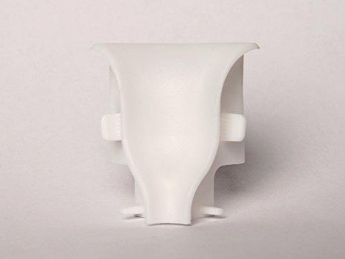 Innen- und Außenecken, Verbinder und Abschlüsse für Sockelleisten 40mm (Innenecke, Weiß)