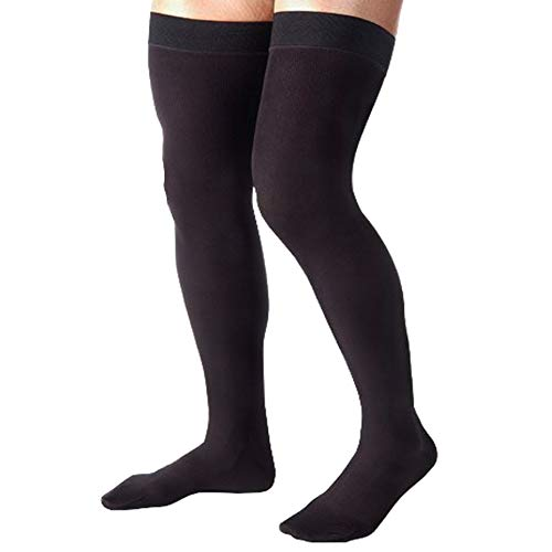 Absolute Support Opaque Compression Leggings 20-30 mmHg for women with Control Top -...