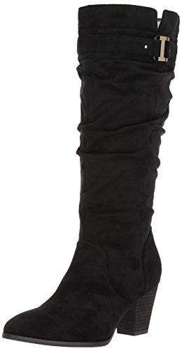 Dr. Scholl's Shoes Women's Devote Wide Calk Riding Boot, Black Microfiber...