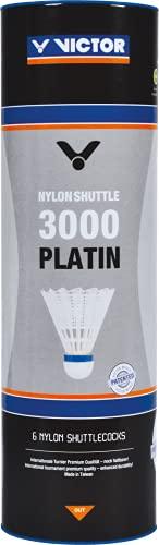 VICTOR Nylon-Federball »Nylon Schuttle 3000 platin« weiß, medium