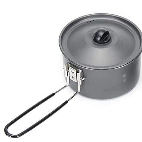 WHL Camping Utensilios de Cocina 5.9 * 3.9 Pulgadas Pequeña instantánea de Fideos instantáneos Pot Ligero Pot Camp Accesorios Equipo Equipo Potes Potes Portátil Cocina