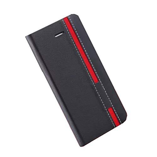 DQG Hülle für TP-Link Neffos C9 Max, Schutzhülle Tasche PU Leder mit Kreditkarten Geldfächern Schale & Weiche Hülle Handyhülle Standfunktion Cover für TP-Link Neffos C9 Max (6.09
