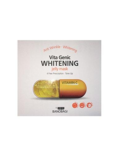Vita Genic Toning/Anti-Wrinkle/Whitening/Toning Jelly Mask mit Jeju Orangen für Vitamin C Toning – 100% Baumwolle Mask – 10 Stück