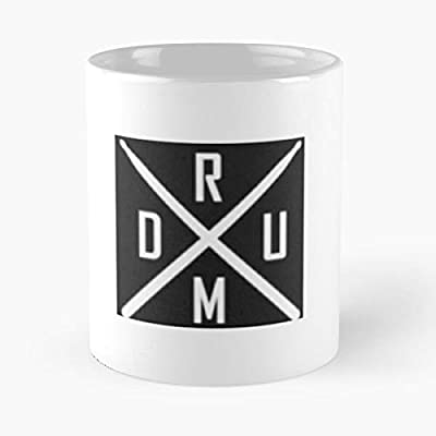 Drum Classic Mug Funny Quote Coffee Christmas Gifts, Unique Or Birthday Gifts Cup White, 11 Oz.