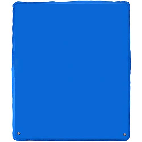 Inflatable Camping Mat Foldable Large Camping Pad (79.9x 72 x 1.1 inches) for Hiking Traveling and Hiking Car Traveling Self Driving Tour,Blue