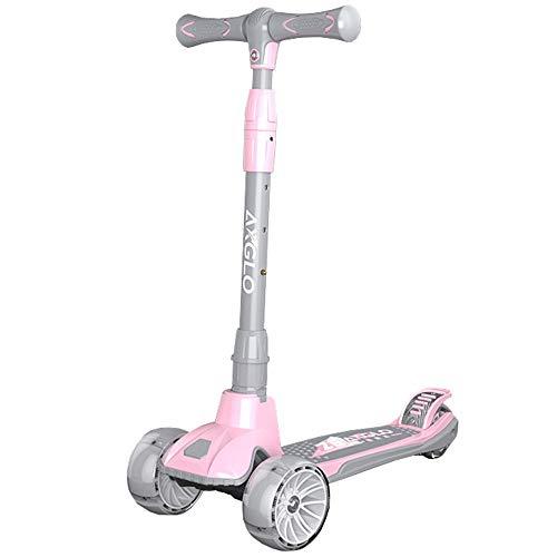 LJHBC Patinete Scooter para niños Altura Ajustable Ruedas LED Intermitentes Mejores Regalos para niños niñas por 3~14 años (Color : Pink)