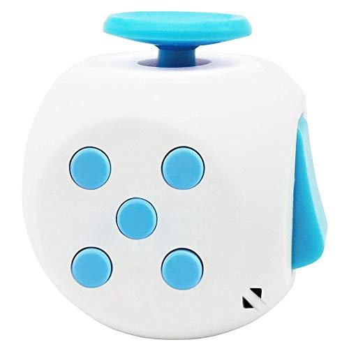 Honmofun Fidget Cube for Teen Fidget Cube ADHD Fidget Cube Fidget Twisty Cube (Blue)