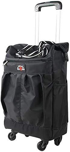 Opslag car Fashion Folding Shopping Bag Universal Wheel Portable Trolley Bag met grote capaciteit Startpagina boodschappen kar Karretje van de supermarkt * Grote capaciteit cart (Color : A)