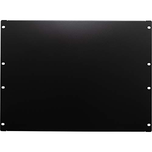 NavePoint 8U Blank Rack Mount Panel Spacer for 19-Inch Server Network Rack Enclosure Or Cabinet Black
