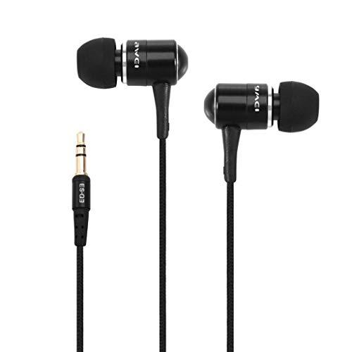newnet Auriculares con aislamiento del ruido de alta definición con cable compatibles con dispositivos con jack de 3,5 mm móviles Samsung xiaomi Huawei Sony y otros smartphones