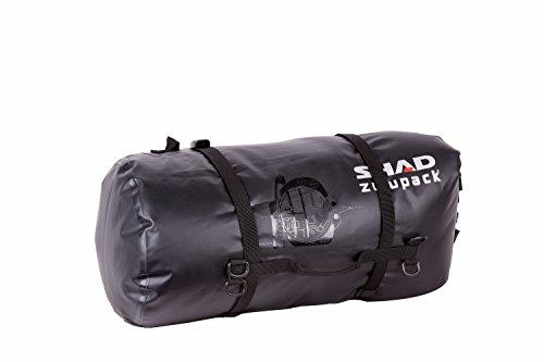 SHAD W0SB38 Rear Duffle SW38 Bolsa Blanda para Motocicleta, Resistente al Agua, Color Negro