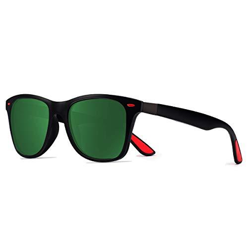 CHEREEKI Gafas de Sol Polarizadas, Gafas de Sol de Moda Hombre Mujer 100% Protección UV400 Gafas para Conducción (Verde)