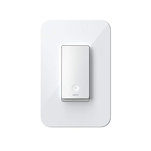 Wemo Wi-Fi Light Switch, 3-Way - Control Lighting from Anywhere, Easy In-Wall Installation, Works with Alexa, Google Assistant and Apple HomeKit (WLS0403)