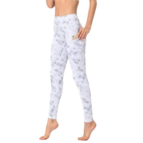 QTJY Pantalones de Yoga de Viento de Tinta para Mujer, Cintura Alta, Levantamiento de Cadera, Deportes, Fitness, Yoga, Pantalones, Pantalones Deportivos para Correr al Aire Libre, C L