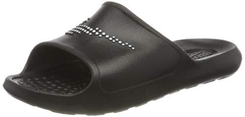 Nike W VICTORI One SHWER Slide, Scarpe da Ginnastica Donna, Black/White-Black, 35.5 EU