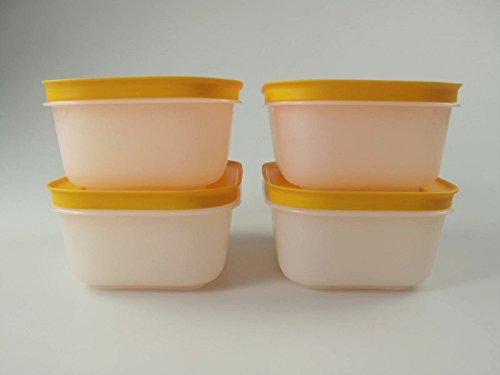 TUPPERWARE Caja de Congelación de 450 ml blanco naranja (4) 10725