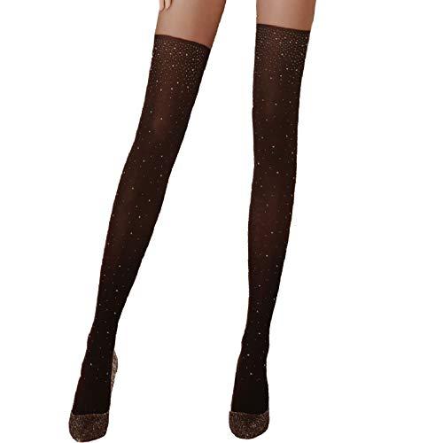 Toocool BE-8929 panty voor dames, met strass-steentjes, zwart