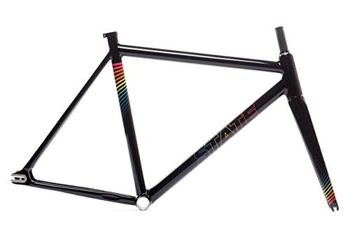 Discover Bargain State Bicycle Company The Undefeated II - Black Prism Edition Frame & Fork Set (55c...