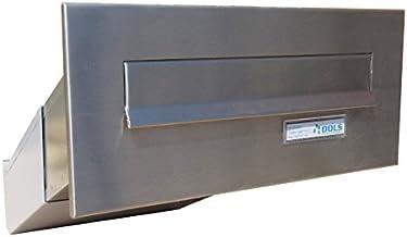 D-041 roestvrijstalen muurdoorwerp, brievenbus met naambordje (diepte: 23-38 cm) - LETTERBOX24.de