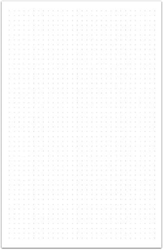 100 Hojas Blancas con Puntos 105 Gr Punteadas Carpeta Ideal Para Lettering Bullet Journal