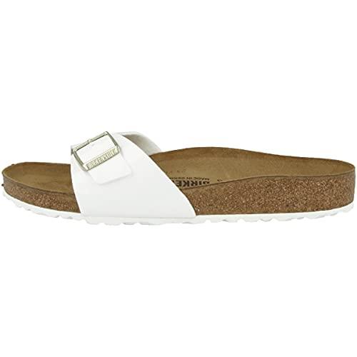 Birkenstock Schuhe Madrid Birko-Flor Lack Normal White (1005309) 38 Weiss