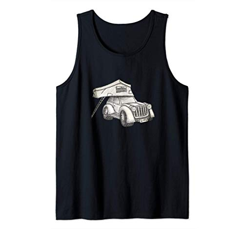 Carpa de techo Camper con tracción a las cuatro ruedas Coche Camiseta sin Mangas