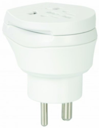 2 x Reiseadapter - Welt Kombi Reisestecker Stromadapter SET - Adapter für Estland auf Färöer Inseln für Steckdosen mit Schukostecker, Euro, 2 pol und 3 polige Strom Netz Stecker - FO-EE