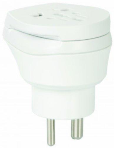 GL-TM 2 x reisadapter - Wereld Combi reisstekker stroomadapter SET - adapter voor Oost-Timer op Groenland voor stopcontacten met Schukostekker, Euro, 2-polige en 3-polige stroomnetstekker