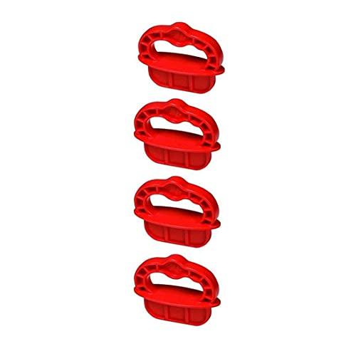 Deck Spacer Rings, ABS 1/4-Inch Deck Board Jig Spacer Rings,Red (4PCS)