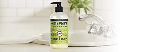 Mrs. Meyer's Clean Day Liquid Hand Soap, Cruelty Free and Biodegradable Hand Wash Made with Essential Oils, Lemon Verbena Scent, 12.5 oz - Pack of 3