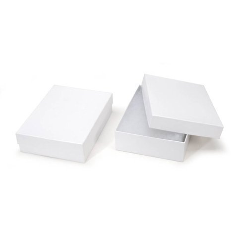Darice White Large Jewelry Boxes - 6 x 8 x 2 (Four Boxes)
