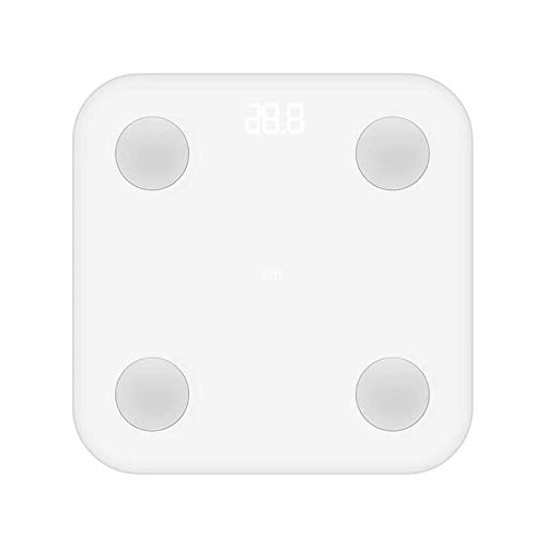 Bilancia Smart Bluetooth Multifunzione Xiaomi Smart Scale 02 con connessione APP Mi Fit per smartphone Ios e Android, misure accurate per massa e peso