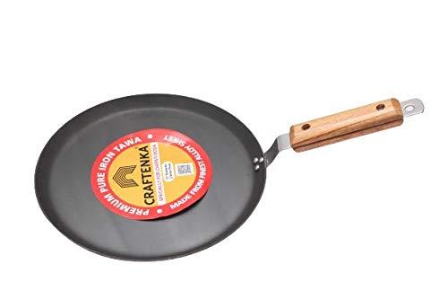 Craftenka Premium Pure Iron Multipurpose Tawa for Dosa Roti Chapati Flat Tawa 11 Inch / 27.5 cm Diameter (Induction Compatible)