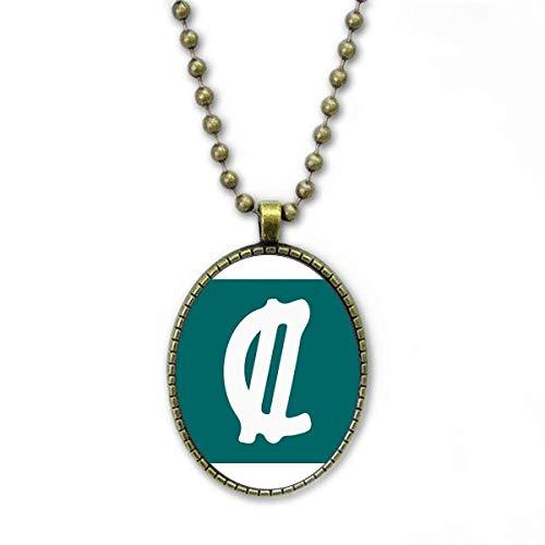 Costa Rica Währungssymbol Colon CRC Halskette Vintage Chain Bead Anhänger Schmuckkollektion