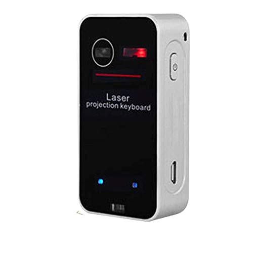Virtual Laser Keyboard Bluetooth Wireless Projector Phone Keyboard For Computer Iphone Ipad Laptop With Mouse Function,Black K1 for smart phone